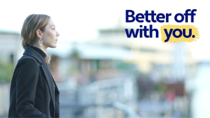 Better Off With You Campaign - Woman by the docks