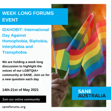 Week long discussion - International Day Against Homophobia, Biphobia, Interphobia and Transphobia