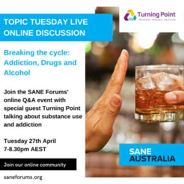 Topic Tuesday - Breaking The Cycle: Addiction, Alcohol and Drugs