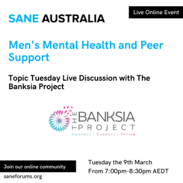 Online Event - Men's mental health and peer support