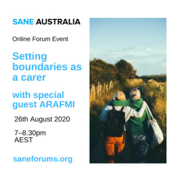Carers Online Event - Setting boundaries as a carer