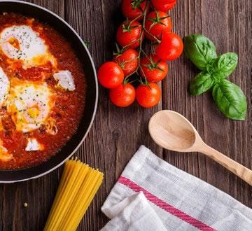 Pan of pasta sauce