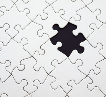 Puzzle with piece missing