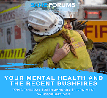 Topic Tuesday - Lived Experience Forum - Your mental health and the bushfires