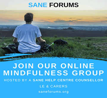 Online Mindfulness Group promo - man meditating looking out to sea